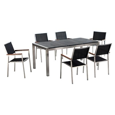 Beliani Grosseto 7 Piece Dining Set