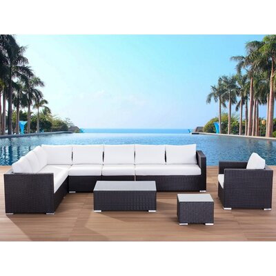 Beliani XXL Sectional 7 Piece Lounge Seating Group with Cushion