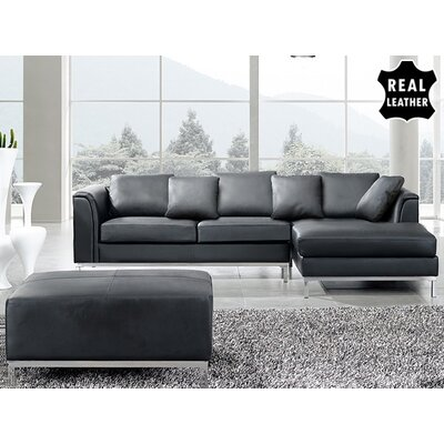 Beliani Oslo 3 Piece Leather Living Room Set