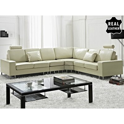 Beliani Stockholm Leather Stationary Sectional
