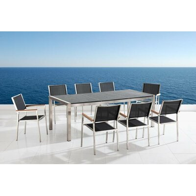 Beliani Grosseto 9 Piece Dining Set