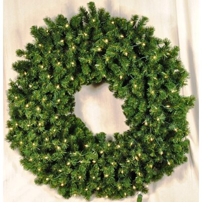 Queens of Christmas Pre-Lit Incandescent Sequoia Wreath