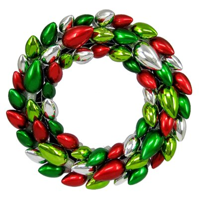 Queens of Christmas Light Bulb Wreath