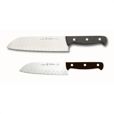 Zwilling JA Henckels International Fine Edge Pro 2 Piece Hollow Edge Santoku Knife Set