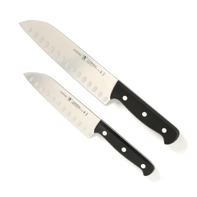 International Fine Edge Pro 2 Piece Hollow Edge Santoku Knife Set