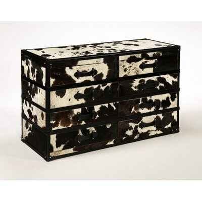 Inspirations Cowhide 8 Drawer Chest