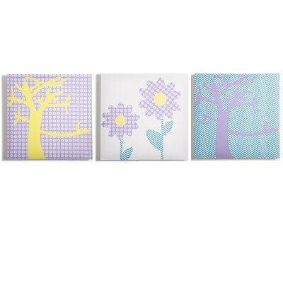 Modern Littles 3 Piece Sweets Pretty Nature Canvas Art Set