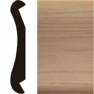 Manor House 1 in. x 6 in. x 8 ft. Oak Bar Rail Moulding