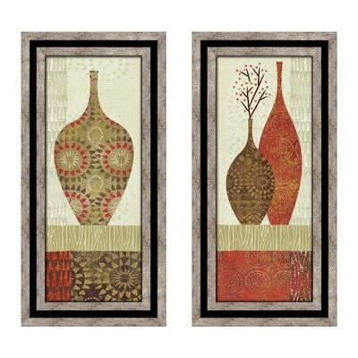 Earth Vessels 2 Piece Framed Graphic Art Set