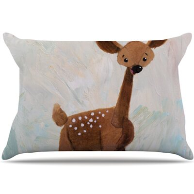 KESS InHouse Oh Deer Fleece Pillow Case
