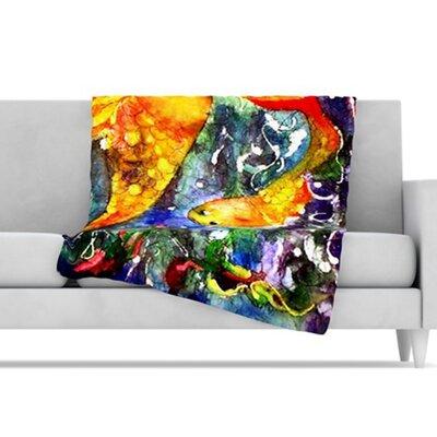 KESS InHouse Fantasy Fish Fleece Throw Blanket