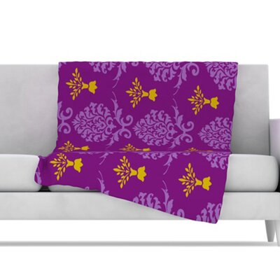 KESS InHouse Crowns Fleece Throw Blanket