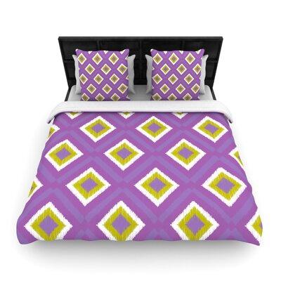 KESS InHouse Purple Splash Tile Duvet Cover Collection