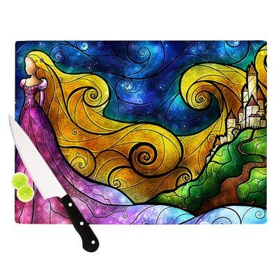 KESS InHouse Starry Lights Cutting Board