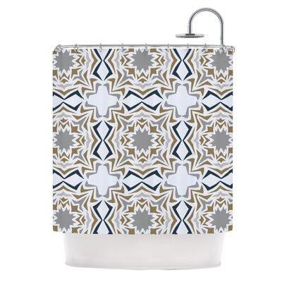 KESS InHouse Ice Stars Polyester Shower Curtain