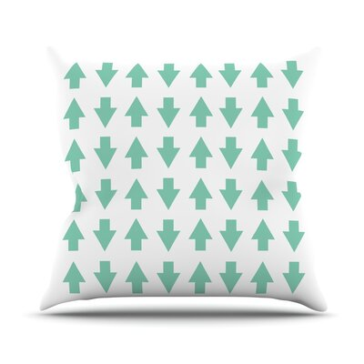 KESS InHouse Arrows Up And Down Throw Pillow