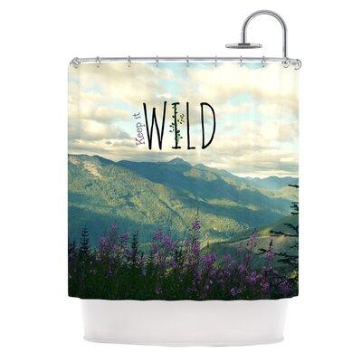 KESS InHouse Keep It Wild Polyester Shower Curtain
