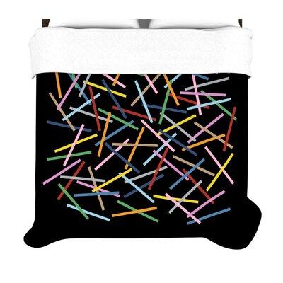 """KESS InHouse """"Sprinkles on Black"""" Woven Comforter Duvet Cover"""