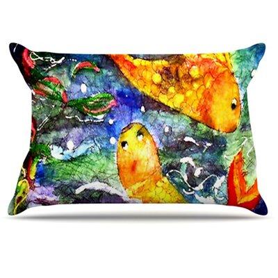 KESS InHouse Fantasy Fish Pillowcase