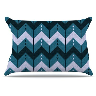 KESS InHouse Chevron Dance Pillowcase