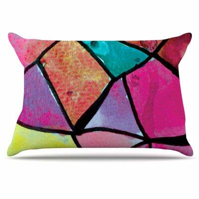 KESS InHouse Stain Glass 3 Pillowcase