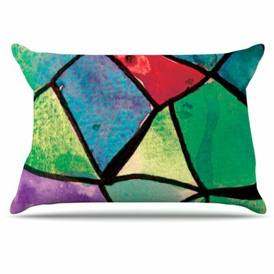KESS InHouse Stain Glass 1 Pillowcase