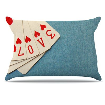 KESS InHouse Love Pillowcase