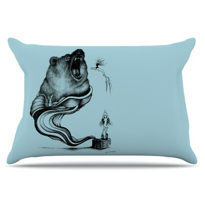 KESS InHouse Hot Tub Hunter II Pillowcase