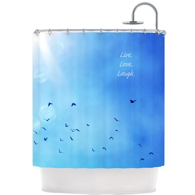 KESS InHouse Live Laugh Love Polyester Shower Curtain