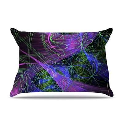 KESS InHouse Floral Garden Microfiber Fleece Pillow Case