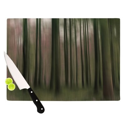 KESS InHouse Forest Blur Cutting Board