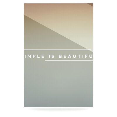 KESS InHouse Simple Beautiful Floating Art Panel