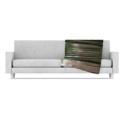 KESS InHouse Forest Blur Microfiber Fleece Throw Blanket