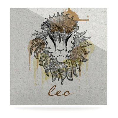 KESS InHouse Leo by Belinda Gillies Graphic Art Plaque