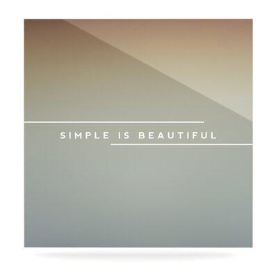 KESS InHouse Simple Beautiful by Anna Farath Textual Art Plaque