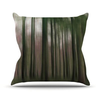 KESS InHouse Forest Blur Throw Pillow