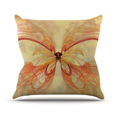 KESS InHouse Papillion Throw Pillow