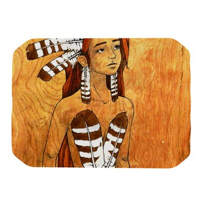 KESS InHouse Owl Feather Dress Placemat