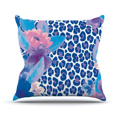 KESS InHouse Leopard Throw Pillow