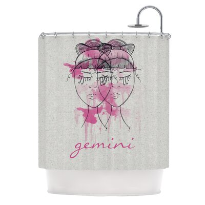 KESS InHouse Gemini Polyester Shower Curtain