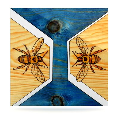 KESS InHouse Bees Floating Art Panel