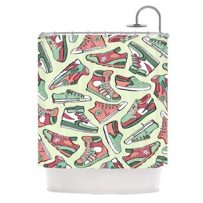 KESS InHouse Sneaker Lover II Polyester Shower Curtain
