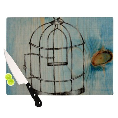 KESS InHouse Bird Cage Cutting Board