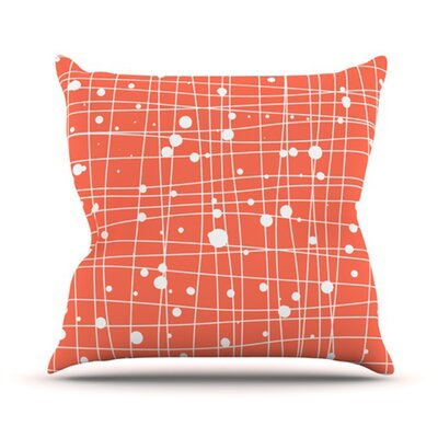 KESS InHouse Woven Web I Throw Pillow