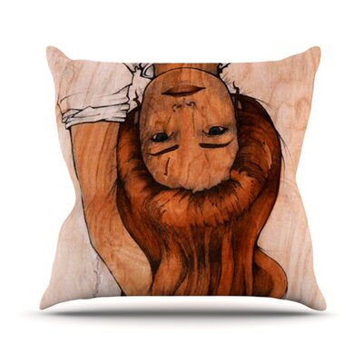 KESS InHouse Girl Throw Pillow