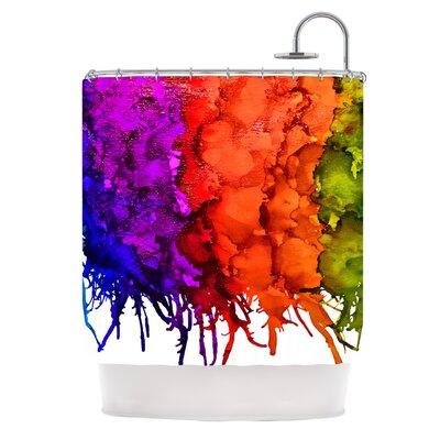 KESS InHouse Clairevoyant Polyester Shower Curtain