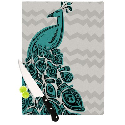 KESS InHouse Peacock Cutting Board