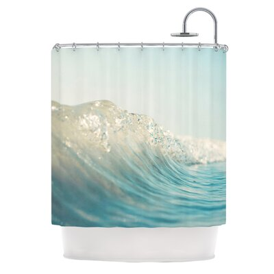 KESS InHouse The Wave Polyester Shower Curtain