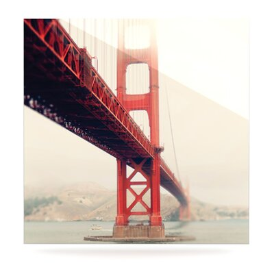 KESS InHouse Golden Gate by Bree Madden Graphic Art Plaque