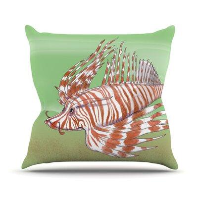 KESS InHouse Fish Manchu Throw Pillow